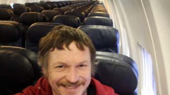 Man is only passenger on flight to Italy