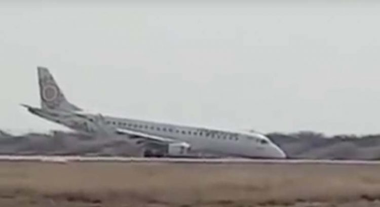 Watch: Disaster averted after pilot lands plane without front wheels