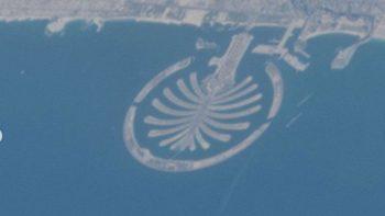 Dubai islands seen from International Space Station