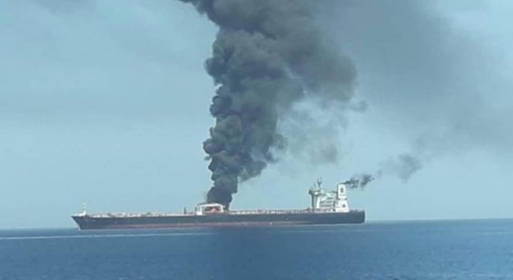 Damaged oil tanker Front Altair 'sinks' in Gulf of Oman