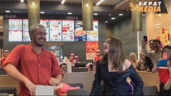 Mahira Khan dances with biggest fan in Dubai