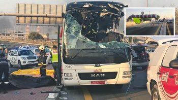 Dubai bus crash: driver's lawyer blames height barrier