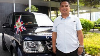 Filipino driver gets British Empire Medal from Queen Elizabeth II