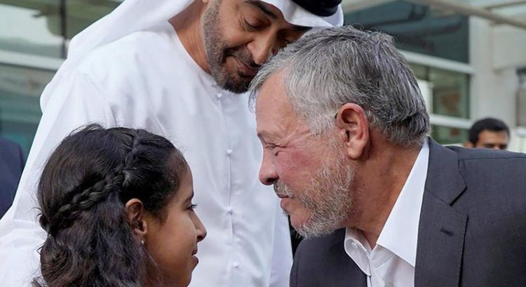 Jordan king enjoys lunch with Sheikh Mohamed Bin Zayed and family