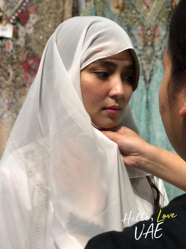 Kathryn Bernardo at Sheikh Zayed Grand Mosque on August 10, 2019.