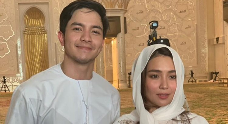 Look: Alden Richards, Kathryn Bernardo visit Abu Dhabi Sheikh Zayed Grand Mosque