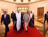 Narendra Modi arrives in UAE