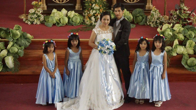 The Molot wedding at San Jose Parish Church in Benguet, Philippines.