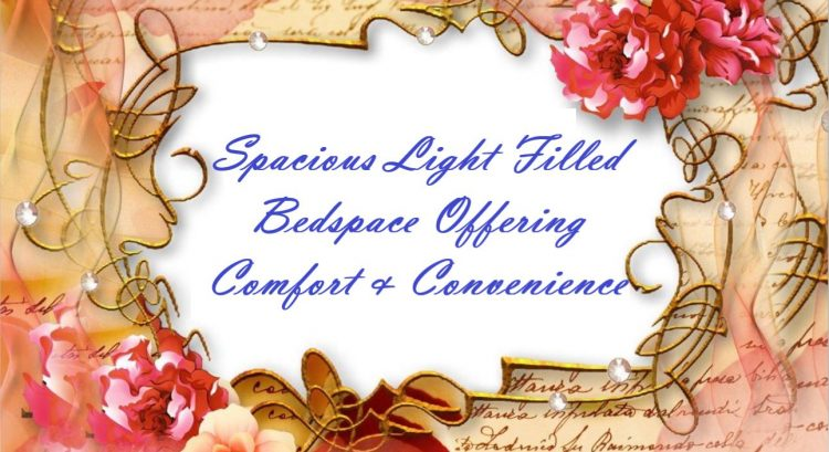 Spacious Light Filled Bed space Offering Comfort & Convenience