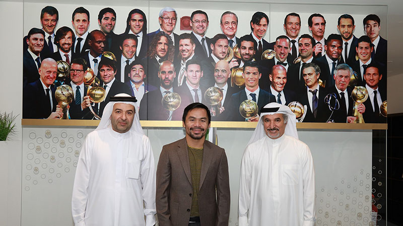 Manny Pacquiao at the Dubai Sports Council on September 25, 2019.