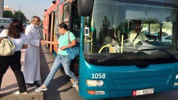 Priest greets Abu Dhabi commuters on new bus route