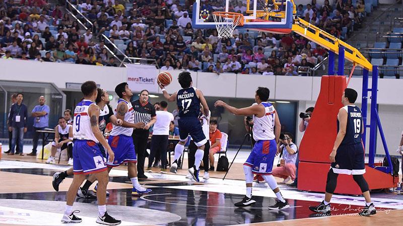 Manny Pacquiao with Team Maharlika Pilipinas Basketball League Executives and Dubai All Stars-DJMC on September 28, 2019 in Dubai.