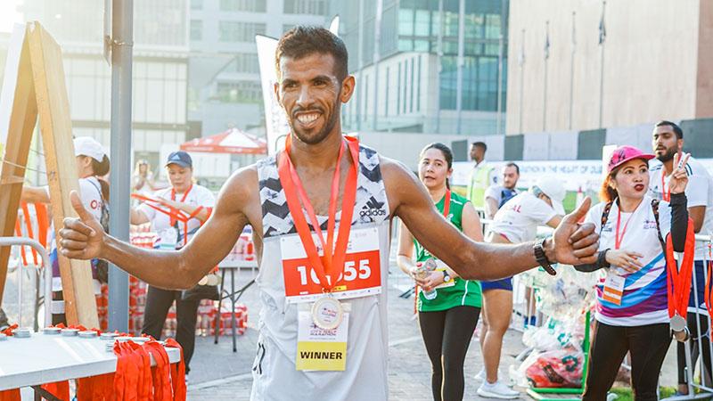 At the Mai Dubai City Half Marathon in DIFC on October 25, 2019.