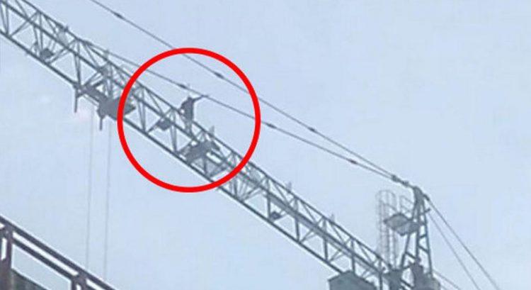 Daredevils scaling crane in Dubai's JLT? What company says