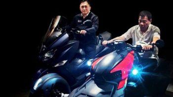 Duterte back on motorbike despite recent injury from big bike