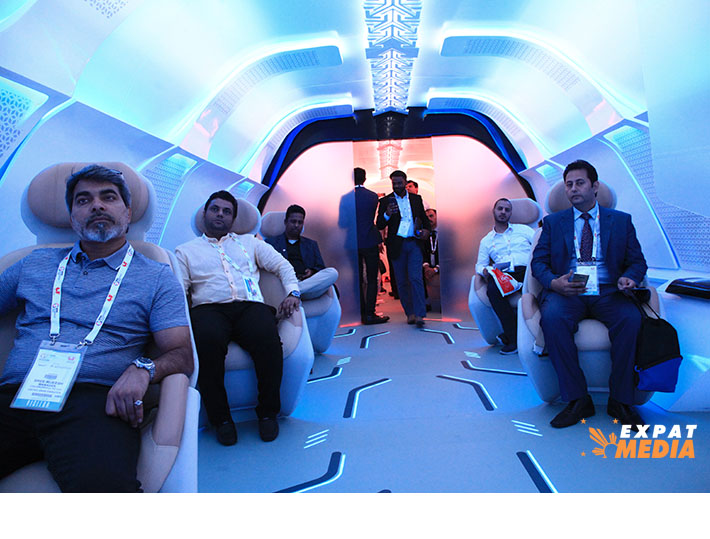 Inside the Hyperloop One displayed in Dubai for Gitex Technology Week 2019.