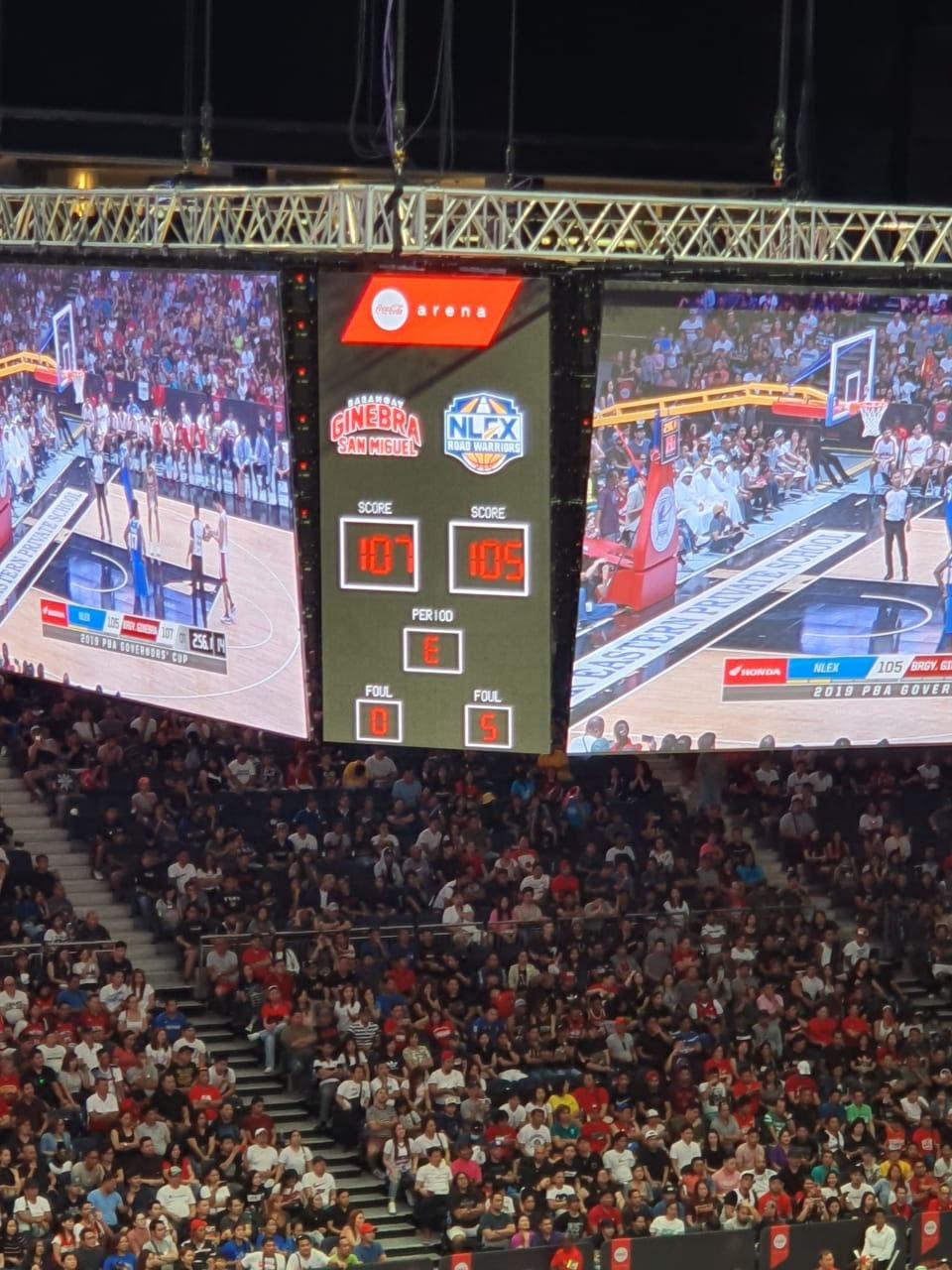 NLEX vs Ginebra at Coca Cola Arena in Dubai on October 5, 2019.