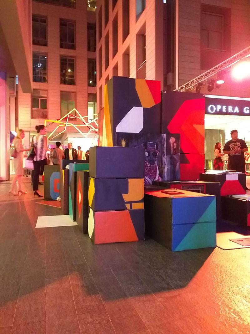 The 3D artwork of Nathaniel Alapide and Mark Barretto for DIFC Art Night.