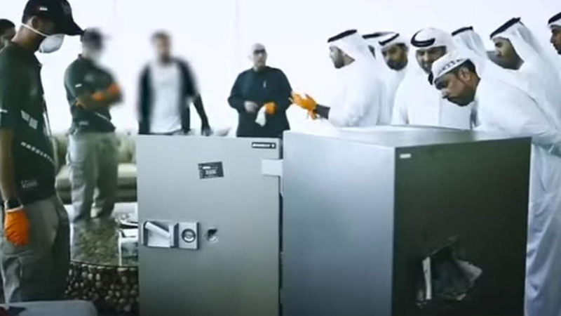 Image from CCTV footage of the crime in Dubai.