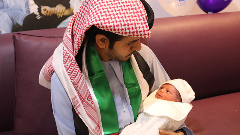 Baby Hamad was born in Abu Dhabi on December 2, 2019.