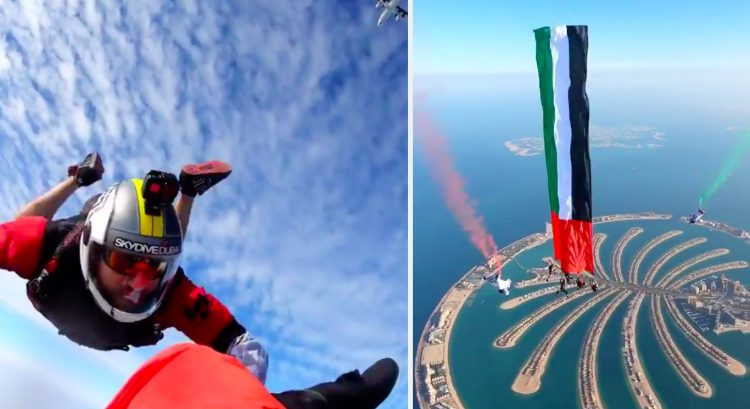 Watch: Sheikh Hamdan skydives to set new record for UAE National Day