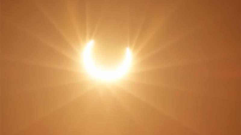 Dubai Crown Prince Shares Video Of Rare Solar Eclipse In Uae