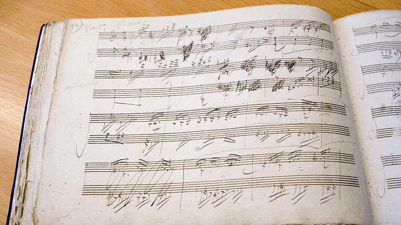 Musical notes written by Ludwig van Beethoven