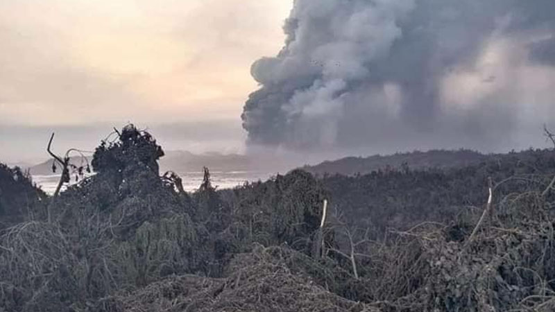 Taal Volcano spews ash