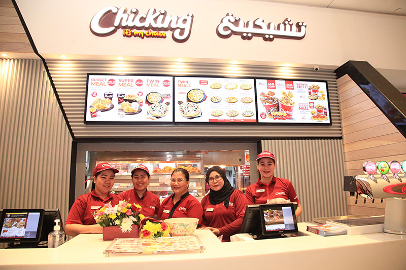 At the opening of Chicking Mall of Emirates on February 11, 2020.