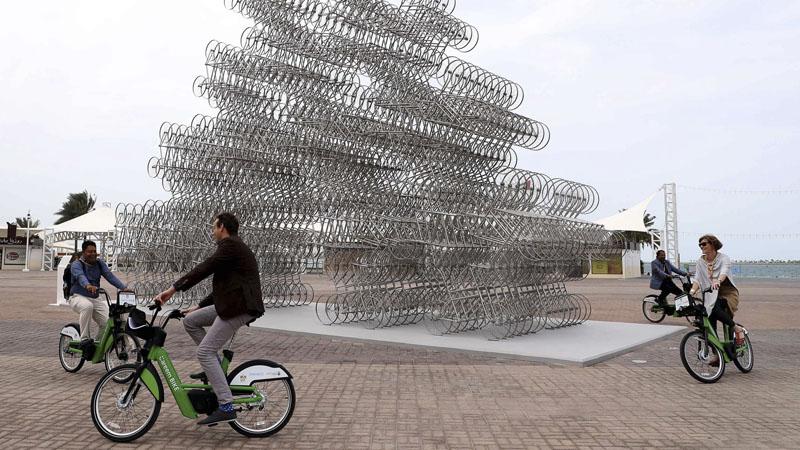 Ai Weiwei's artwork on display in Abu Dhabi.