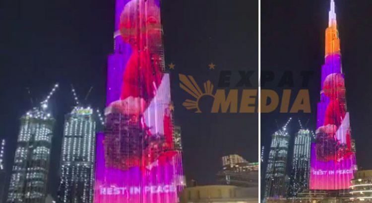 Burj Khalifa shows Kobe Bryant tribute