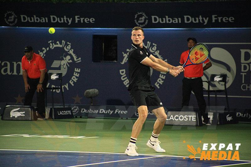 Marton Fucsovics - Action from Dubai Duty Free Tennis Championships 2020