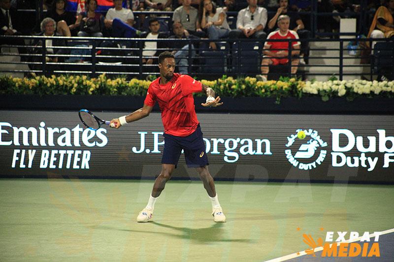 Gael Monfils - Action from Dubai Duty Free Tennis Championships 2020