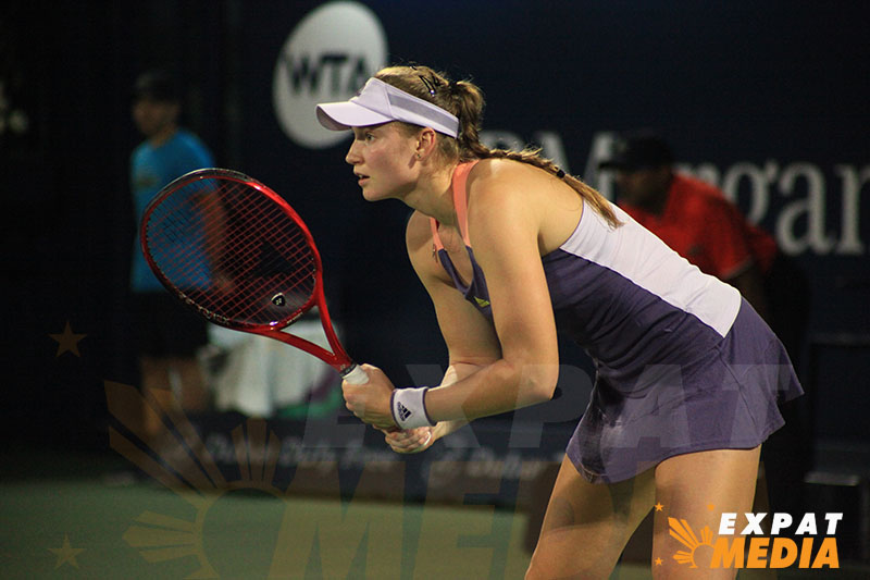 Elena Rybakina at the Dubai Duty Free Tennis Championships on February 21, 2020. JONATHAN YBERA/EXPAT MEDIA