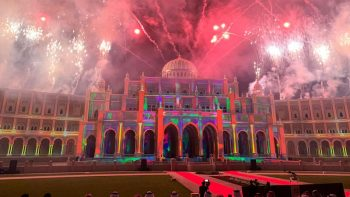 Iconic Sharjah buildings come alive for Sharjah Light Festival