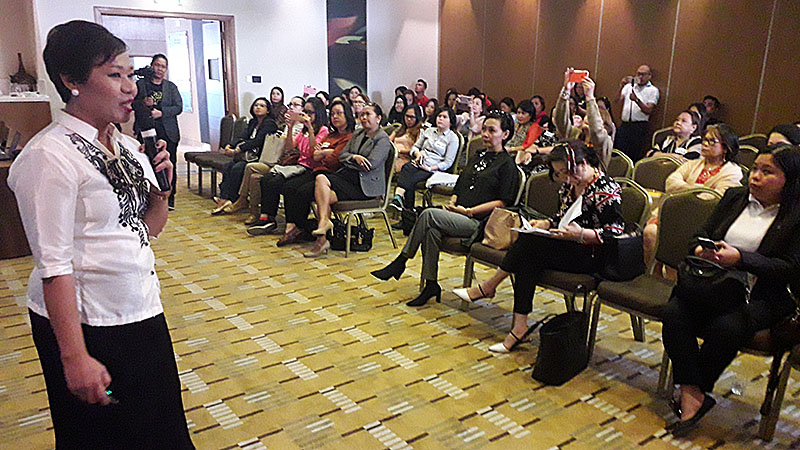 Mel Rose Angeles at the FEME Forum in Abu Dhabi