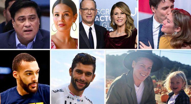 Coronavirus: public figures, celebs and sports stars who tested positive