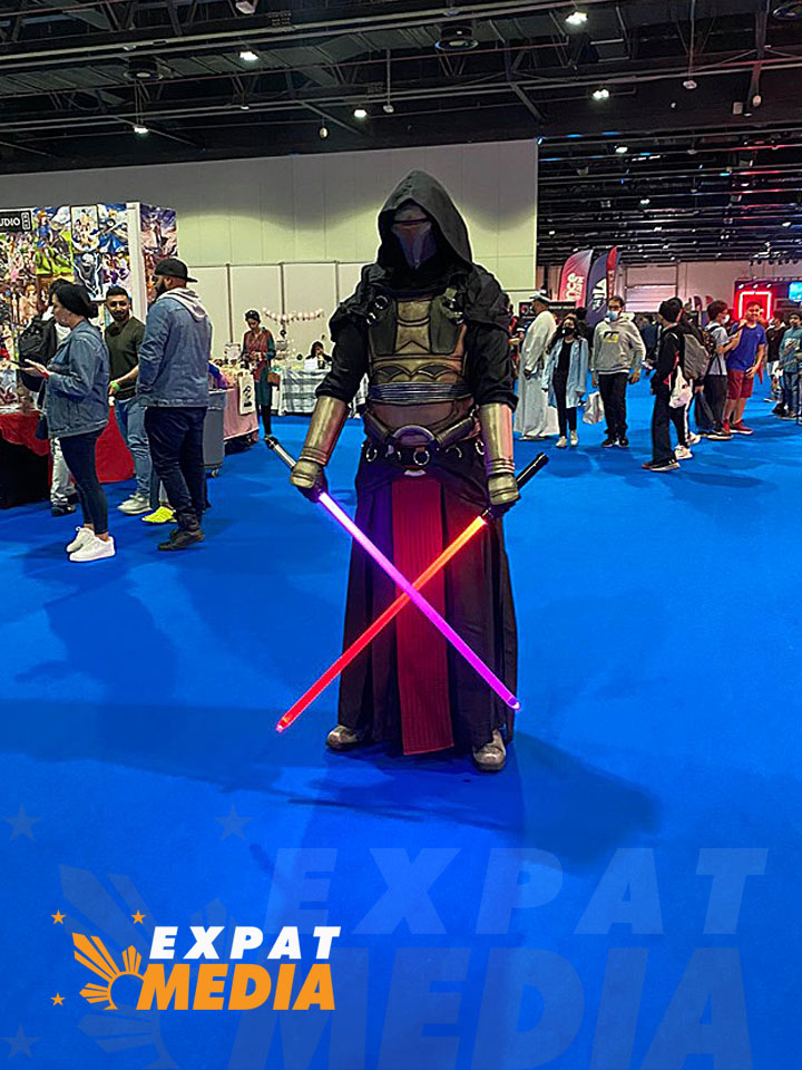Cosplayers in action at the Middle East Film and Comic Con in Dubai on March 5, 2020.