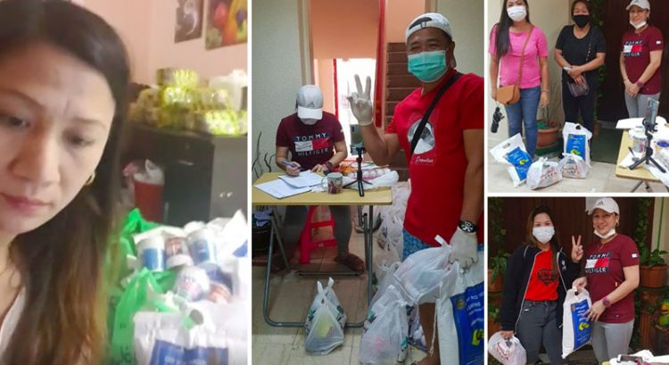 Filipina in Abu Dhabi gives rice, food as Covid-19 aid to jobless