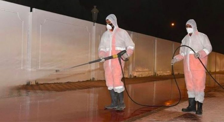 Arab man arrested in Sharjah for mocking Covid-19 disinfection drive