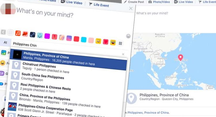 Facebook geotag labeling Philippines as China province sparks controversy