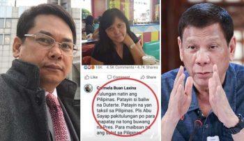 DFA denies Philippine embassy summoned social media user over anti-Duterte post