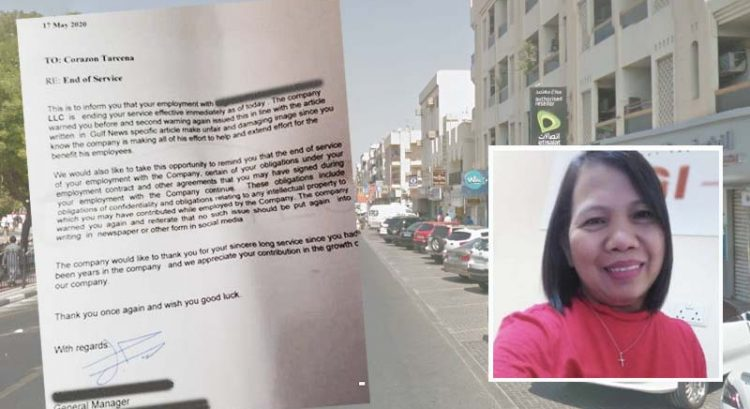 Filipina in Dubai loses job after asking UAE newspaper for help