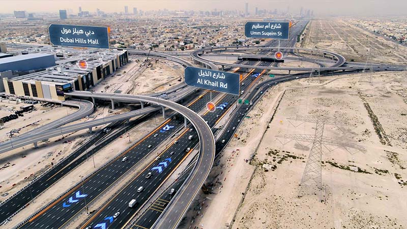 onstruction of 13 new bridges in Dubai is now complete, which will help cut travel time by up to 7 minutes on Umm Suqeim Street, according to the head of the Roads and Transport Authority