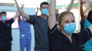 Dubai healthcare workers sing uplifting medley amid Covid-19 pandemic