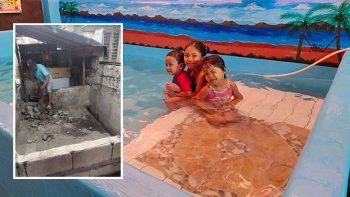 Filipino grandpa transforms animal pen into fun swimming pool for just Dh290