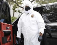 DJ Khaled wears full hazmat suit for trip to dentist