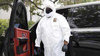 DJ Khaled wears full hazmat suit for trip to dentist