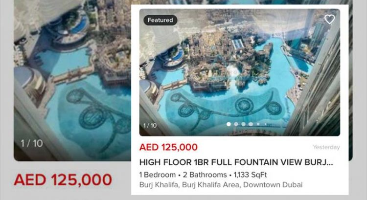 Now rent Burj Khalifa apartment for Dh125,000 per year or Dubai studio for Dh18,000