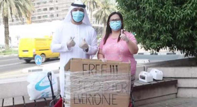 UAE vlogger Khalid Al Ameri surprises 'hero' Filipina in Dubai with Dh10,000